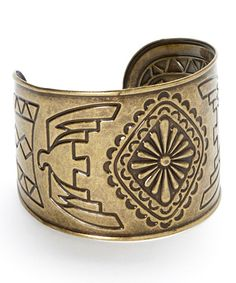Look what I found on #zulily! Brass Diamond Bird Cuff Bracelet by Bijou International #zulilyfinds