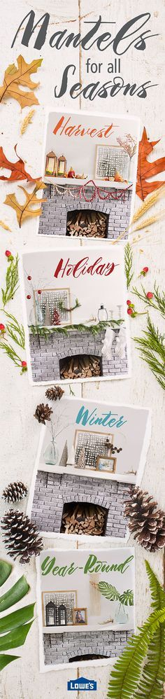Update your fireplace focal point for year-round enjoyment. With a few savvy styling tips, your hearth can reflect the changing seasons. Keep your year-round mantel décor simple and stylish, then layer seasonal accessories to carry you through the holidays and beyond.