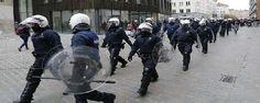 إصابة 22 شرطيا في بروكسل بعد تأهل المغرب