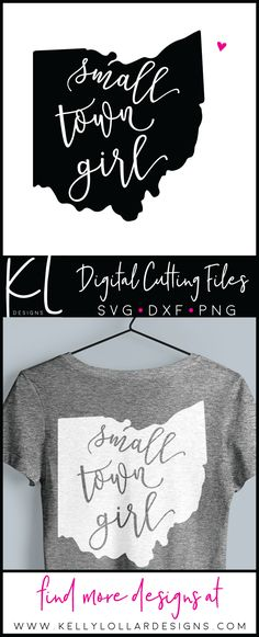 Small Town Girl Ohio SVG File with bonus heart to place over your town  #smalltowngirl #svgfiles #ohiogirl #ohiosvg