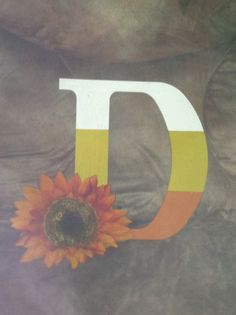 Hand-Painted Letter Wreath