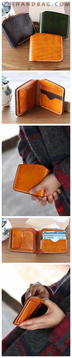 Handmade wallet designer retro casual Top Grain short wallets coin dollar purse card holde Change pocket Card Holder QY99