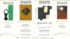 Etiquetas de la bodega ENATE. Ver más en: etiquetasvinoarte.blogspot.com