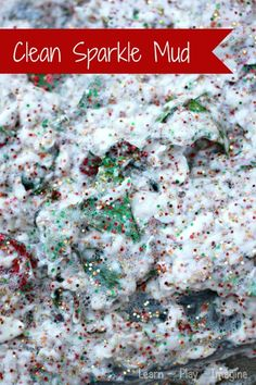 How to make sparkly CLEAN mud - a fun recipe for sensory play