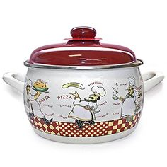 Kitchen Boy Enamel Cooking Pot 4 Liters * Want to know more, click on the image.