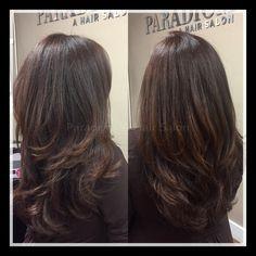 Blended layers on long hair! #paradigmahairsalon @paradigmpassion