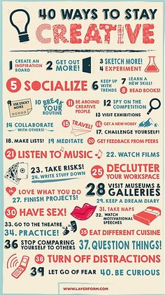 out of a creative rut? This handy infographic will sort you RIGHT out. Wanna get out of a creative rut? This handy infographic will sort you RIGHT out.ukWanna get out of a creative rut? This handy infographic will sort you RIGHT out. Social Media Updates, Creative Infographic, Web Design, Creative Posters, Creative Inspiration, Creative Ideas, Creative Writing, Daily Inspiration, Ads Creative