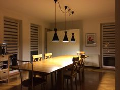 Table & lamps  http://www.ikea.com/pl/pl/catalog/products/00217820/ http://www.ikea.com/pl/pl/catalog/products/40176846/