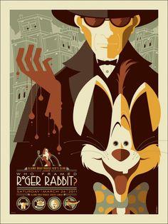 Mondo To Release Second Disney Poster Tomorrow: Who Framed Roger Rabbit By Tom Whalen Tom Whalen, Roger Rabbit, Draw Disney, Disney Art, Disney Movies, Disney Villains, Walt Disney, Omg Posters, Cartoon Posters