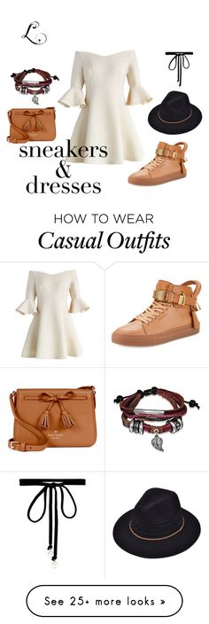 """Casual-Chic"" by lfashione on Polyvore featuring Chicwish, BUSCEMI, Kate Spade, Joomi Lim, Bling Jewelry, contest, dress, women and SNEAKERSANDDRESSES"