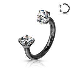 Black Gem Horseshoe septum cartilage rin on Mercari Septum Piercing Jewelry, Piercings, Daith, Circular Barbell, Black Gems, Body Jewelry, Heart Ring, Plating, Sapphire