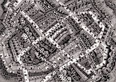 """Lima-based architect Karina Puentehas a personal project: to illustrate each and every""""invisible"""" city from Italo Calvino's 1972novel. Her initial..."""
