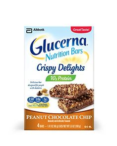 Glucerna Crispy Delights Nutrition Bars, Chocolate Peanut, 4 Count ** Be sure to check out this awesome product.