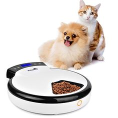 Automatic Pet Feeder for Dogs  Cats with Voice Reminding  Dry  Wet Food  5 Meals 5 x 240ml -- You can get more details by clicking on the image. This is an Amazon Affiliate links.