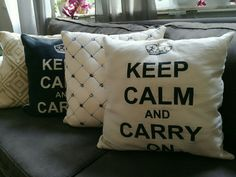 Pinte cojines de keep calm and carry on