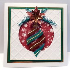 Handmade card with large Teardrop Bauble Stencil. Products available at…