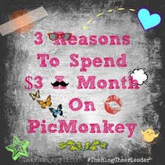 PicMonkey totally ROCKS! If you're gonna spend money on your blog, be sure this is where you spend it!