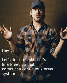 The sad thing is, I actually do have a kombucha kit that I haven't used yet. Ryan, I need you in my life!
