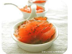 Filets de saumon marinés