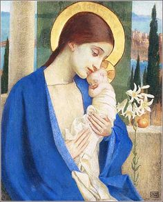 Madonna and Child by Marianne Stokes, ca. 1902.