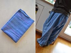 Geschirrtuchharemshose / Pants made from tea towels / Upcycling