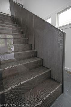 Trilhos moderno, costume Escadas Chicago, Escadaria moderna concepção Chicago, Escada design personalizado, feito sob encomenda Mobiliário - escadas e grades