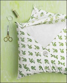 Easy pillow covering !