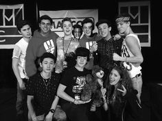 leonie — A few old magcon pics in b&w bc why not?
