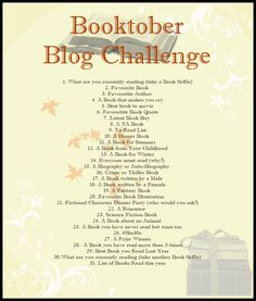 My First Monthly blog theme and my first Blog Challenge.