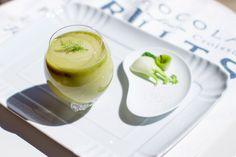 Smoothie alla mela verde, avocado, finocchio e tè Matcha