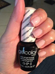 OPI Gelcolor...I Theodora You. Soft, natural pink.
