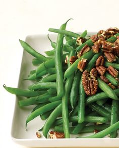GREEN BEANS WITH TOASTED PECANS Nutritional info not provided. http://www.marthastewart.com/313553/green-beans-with-toasted-pecans?czone=food/dinner-tonight-center/dinner-tonight-side-dishes=276948=274928=281994