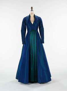 """The Styx""  Elizabeth Hawes  (American, 1903–1971)  Date: fall/winter 1936 Culture: American Medium: silk Dimensions: Length at CB (a): 60 in. (152.4 cm) Length at CB (b): 16 in. (40.6 cm)"