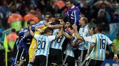 Argentina a la final.... 9 julio de 2014 ... Mundial Brasil 2014... Semifinal Argentina vs Holanda. Estadio Arena Corinthians. San Pablo.