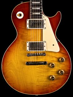 Gibson guitars which are awesome Guitar Crafts, Guitar Art, Cool Guitar, Gibson Guitars, Fender Guitars, Acoustic Guitars, 1959 Gibson Les Paul, Les Paul Guitars, Les Paul Standard