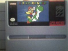 Super Mario World SNES I used to play this game all the time when I was younger, I still play it today!! Mario is Rocktacular!!
