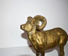 Vintage Ibex Gazelle Statue Mountain Goat Ram by JudysJunktion, $150.00