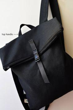 Elegante mochila mensajero bolsa lona por misirlouHandmade en Etsy