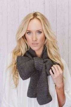 Cute bow scarf