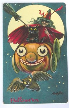 "Vintage Halloween Postcard ""Vintage Halloween"" by riptheskull, via Flickr"