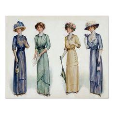 Edwardian Fashion   1912 Edwardian Fashion Poster