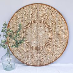 Hand carved wall panel TIMOR, square ( various sizes), colour: natural white Wall Panel Design, Wall Decor, Wall Art, Affordable Home Decor, Hand Carved, Decorative Plates, Outdoor Blanket, Carving, Pure Products