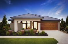 Browse the various new home designs and house plans on offer by Carlisle Homes across Melbourne and Victoria. Find a house plan for your needs and budget today! New House Plans, Modern House Plans, Modern Houses, New Home Designs, Cool House Designs, Rawson Homes, Plan General, Rendered Houses, Carlisle Homes
