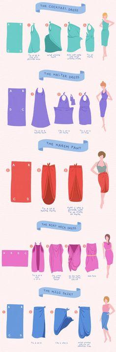Look Fashion, Diy Fashion, Ideias Fashion, Fashion Beauty, Fashion Tips, Convertible Clothing, Fashion Infographic, Diy Vetement, Fashion Vocabulary