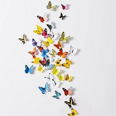 3d muurstickers muur stickers, 38 stuks set van 2 emulationalmassage vlinder pvc muurstickers – EUR € 7.99