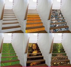 Creative painted designs on staircases - http://www.differentdesign.it/2013/06/18/creative-painted-designs-on-staircases/