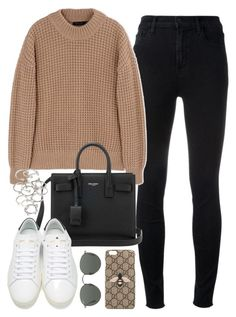 """Untitled #162"" by simonakolevaa ❤ liked on Polyvore featuring J Brand, Calvin Klein Collection, Yves Saint Laurent, Forever 21, Gucci and Ray-Ban"