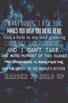 BMTH❤️ it comes in waves, I close my eyes, hold my breath and let it bury me.