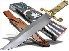 Large Carbon Steel Blade Bone Handle Bowie Knife in Collectibles, Knives, Swords & Blades, Fixed Blade Knives Bowie Knives, Knife Sheath, Cold Steel, Fixed Blade Knife, Knives And Swords, Folding Knives, Weapons, Raptor Truck, Bones
