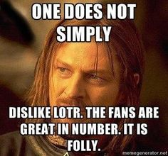 YES! My youth pastor said that even LOTR fans didn't like the second Hobbit movie. I about died.